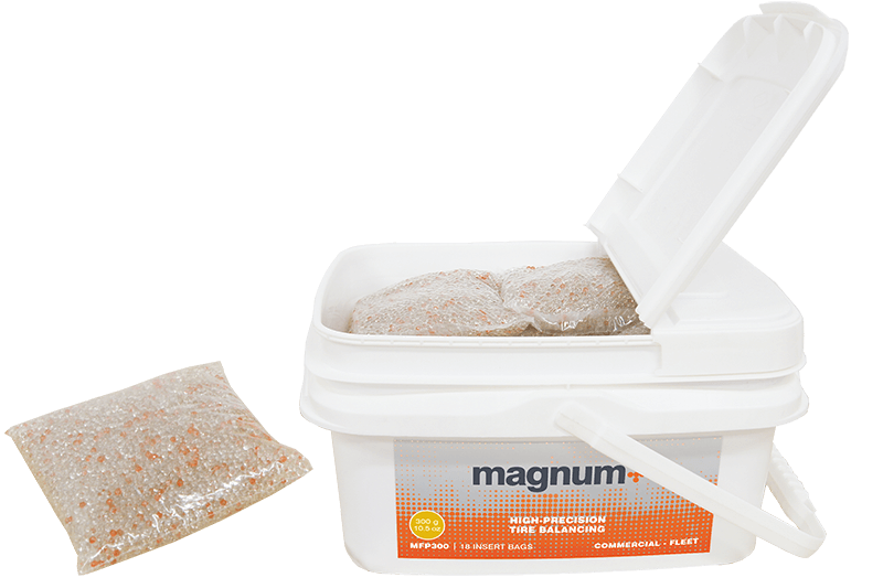 MAGNUM+ tire balancing beads fleet tub